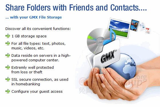 GMX File Storage Features