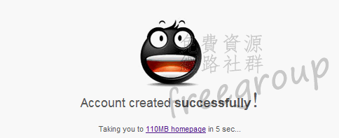 Account created successfully!