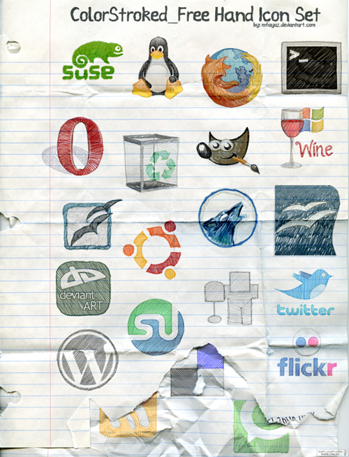 colorstroked-free-hand-icon-set