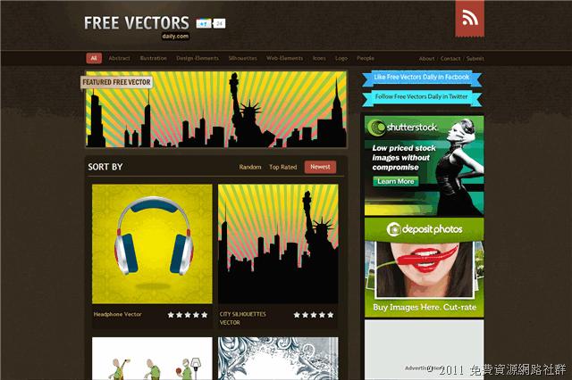 Free Vectors Daily 免費下載向量圖素材,每日更新