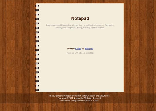 Notepad.IM 免費線上記事本,無限制的文字儲存空間