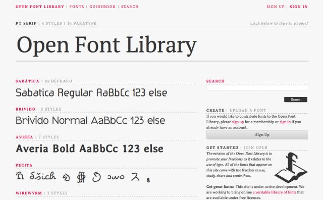 Open Font Library 開放字型資料庫,百種字體免費下載
