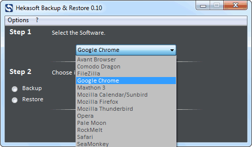 Hekasoft Backup & Restore 瀏覽器設定備份工具