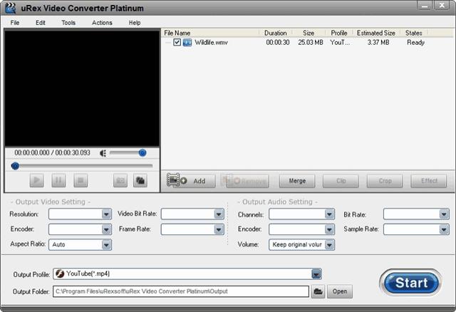 uRex Video Converter Platinum 多功能影音轉檔軟體,限時免費下載(含序號)