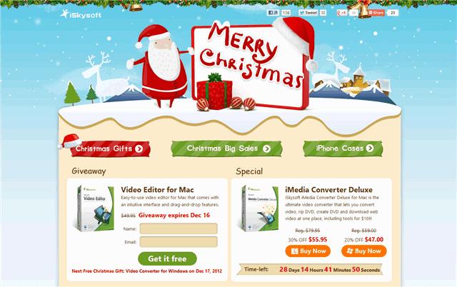 iSkysoft 聖誕佳節活動,免費下載 iSkysoft Video Editor for Mac 影音編輯軟體(完整版)