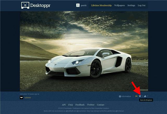 Desktoppr 直接將你喜愛的高畫質桌布同步回 Dropbox