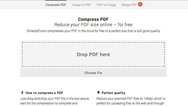 SmallPDF 免費線上壓縮 PDF 文件,減少檔案大小