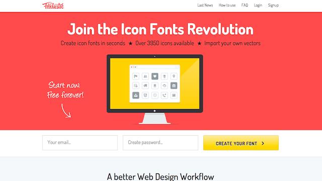 Fontastic 免費網頁圖示字型(Icon Fonts)產生器