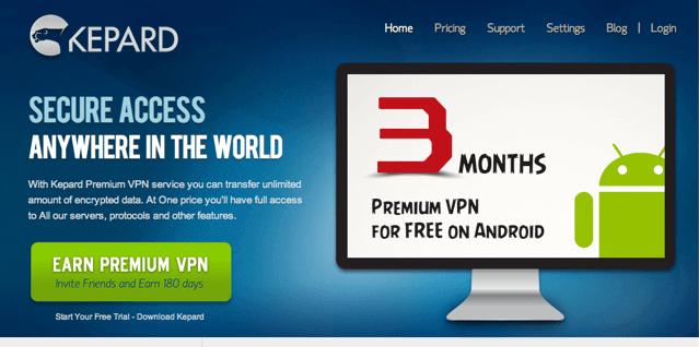 Kepard 免費提供 3 個月 Premium VPN 帳戶(Android)