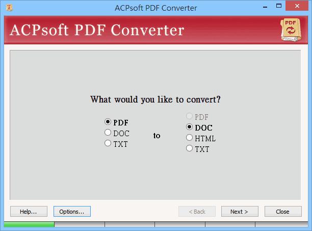 ACPsoft PDF Converter:PDF、DOC、TXT 互轉工具,限時免費下載