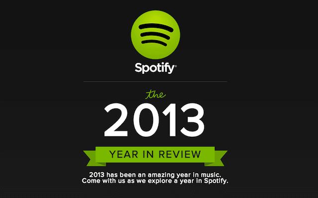 Spotify 推出 2013 年度風雲榜,一同來回顧你今年聽了那些歌曲