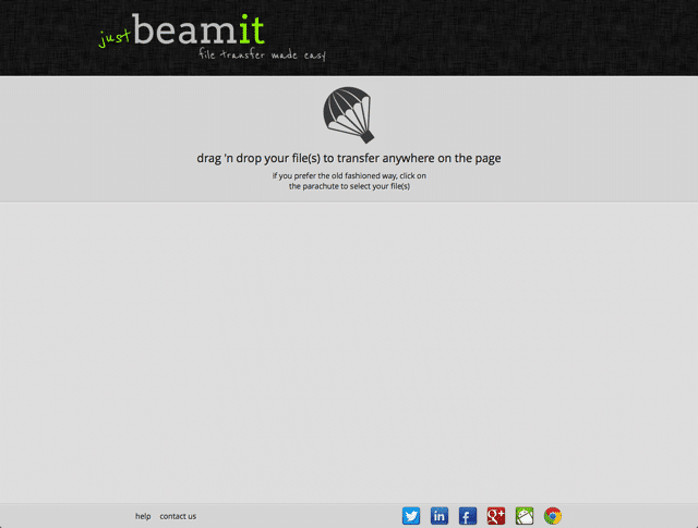 JustBeamIt 把瀏覽器變成 P2P 傳檔工具,無檔案大小、流量限制