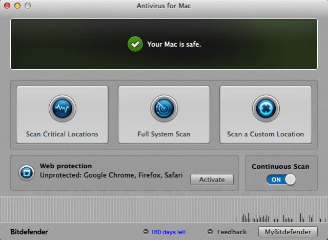 Mac 防毒軟體 Bitdefender Antivirus 限時免費下載(半年份)