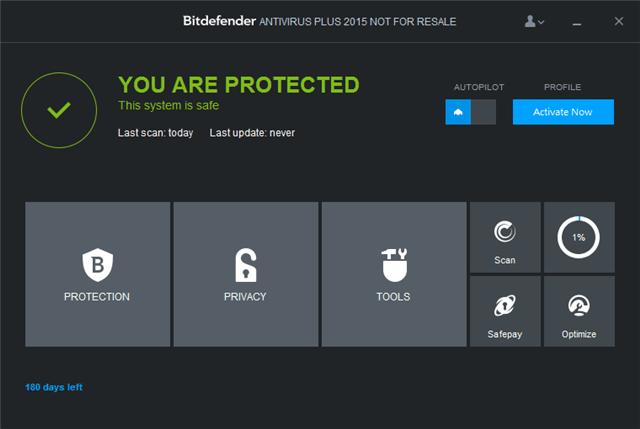 Bitdefender Antivirus Plus 2015 比特病毒防護,180 天限時免費下載