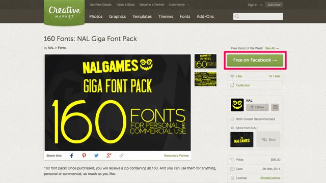 NAL Giga Font Pack:160 個英文字型包,限時免費下載