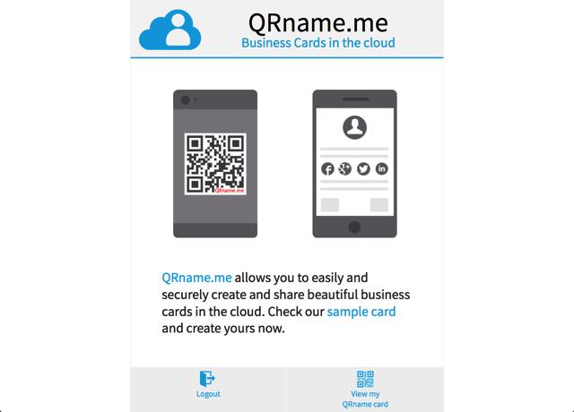 QRname.me 免費雲端名片服務,將你的名片轉為 QR Code 帶著走