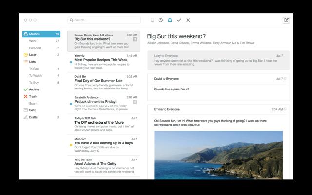 Mailbox 登陸 Mac 平台,挑戰成為最好用郵件軟體