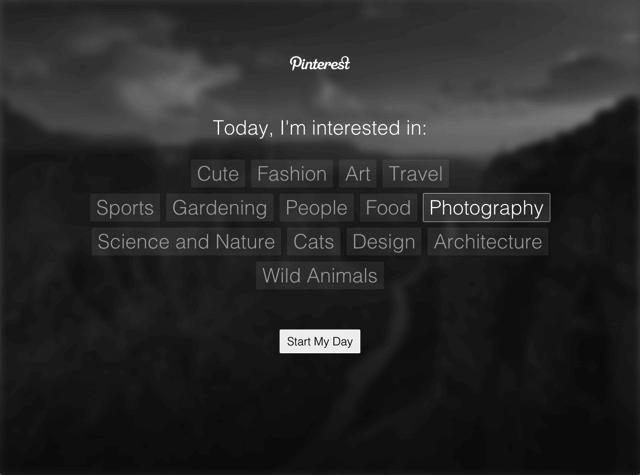 Pinterest Tab 以一張攝影美圖開啟嶄新的一天(Chrome 擴充功能)