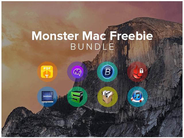 Monster Mac Freebie Bundle 免費送磁碟清理、PDF 編輯工具等八款應用程式(Mac)