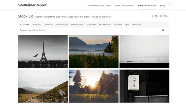 Stock Up 免費圖片搜尋引擎,一次查找 9 個圖庫網站相片