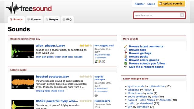 Freesound.org 免費下載 CC 授權配樂、音效素材