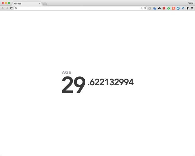 Motivation 在新分頁顯示你的「實際年齡」,提醒自己把握時間!(Chrome 擴充功能)