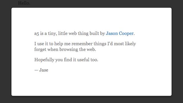 a5 為瀏覽器加入簡單、優雅筆記本功能,隨時暫存你所需的資料