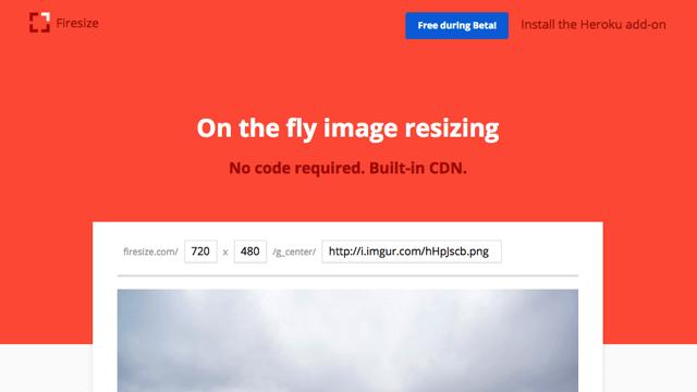 FireSize 只需輸入圖片鏈結、設定尺寸,雲端快速調整圖片大小