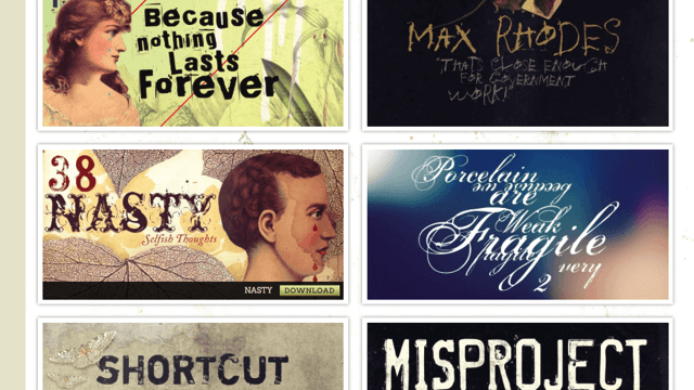 Misprinted Type 提供免費手繪字體下載,可用於商業或個人專案