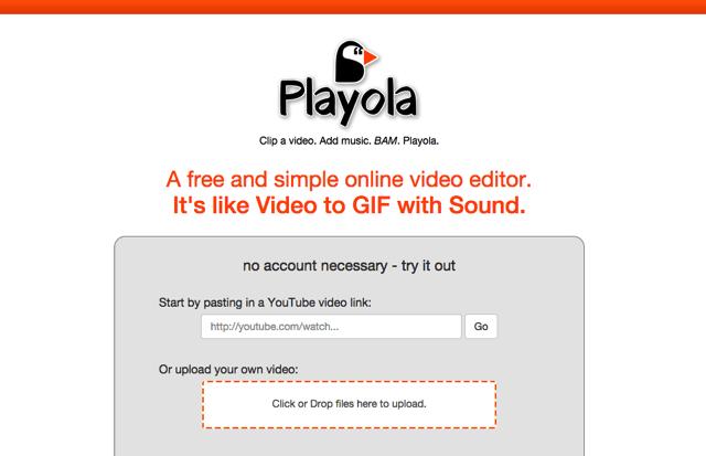 Playola 將 YouTube 影片剪輯為 30 秒短片,線上擷取畫面、加入不同影片音樂音效