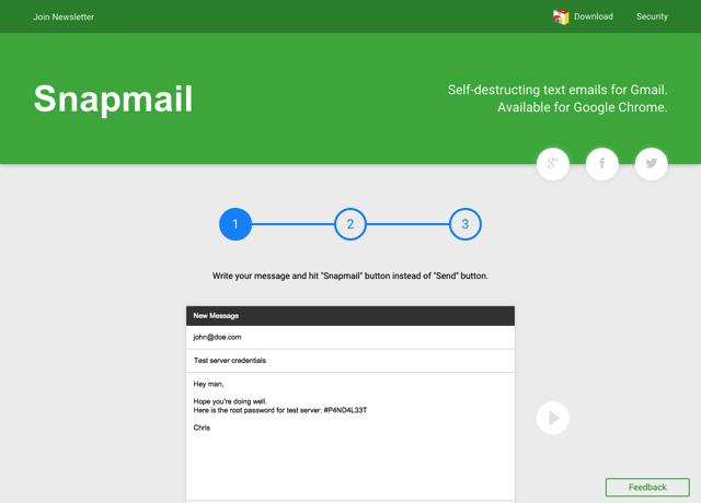 Snapmail 使用 Gmail 寄送重要郵件,開啟後 60 秒自動銷毀(Chrome 擴充功能)