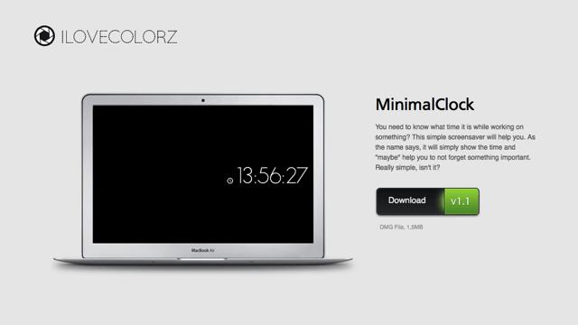 MinimalClock 為 Mac 加入簡約風時鐘螢幕保護程式