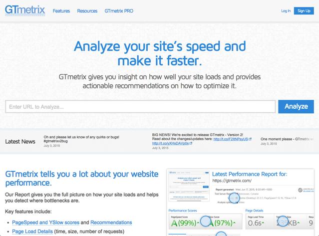 GTmetrix 網頁開啟速度檢測、分析工具,協助最佳化使用者體驗