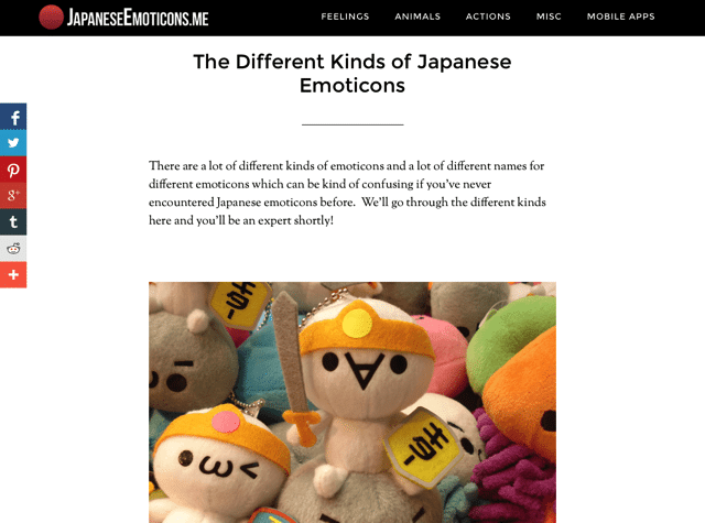 Japanese Emoticons
