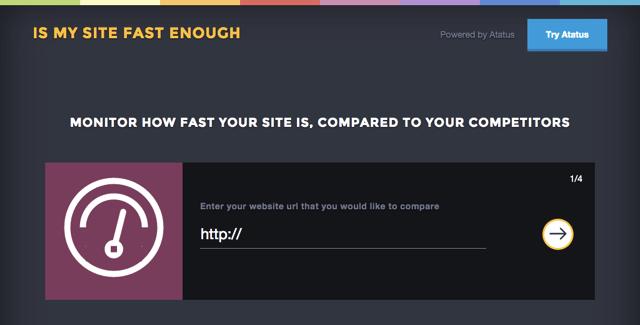 Is My Site Fast Enough 檢測你的網站速度,與競爭者比較各項目數據