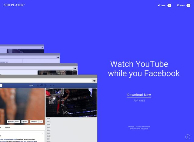 Sideplayer 瀏覽網頁同時看 YouTube!影片懸浮可調整位置大小(Chrome 擴充功能)