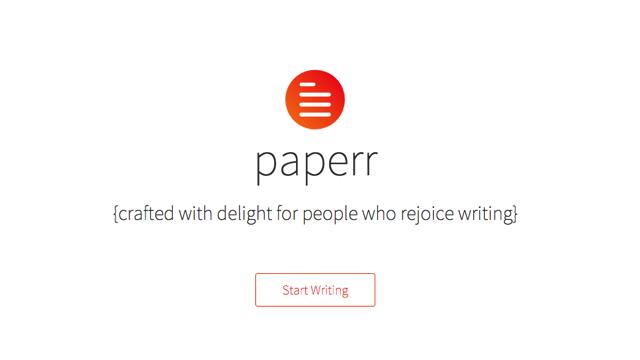 Paperr 讓瀏覽器化身優雅文字編輯工具,美好你的寫作體驗