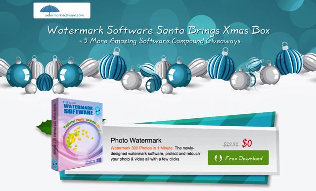 Watermark Software 聖誕限免活動來了,六套軟體總價超過 $150 美金免費下載!