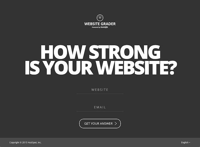 Website Grader 計算你的網站各項優缺評比,免費提供最佳化修改建議