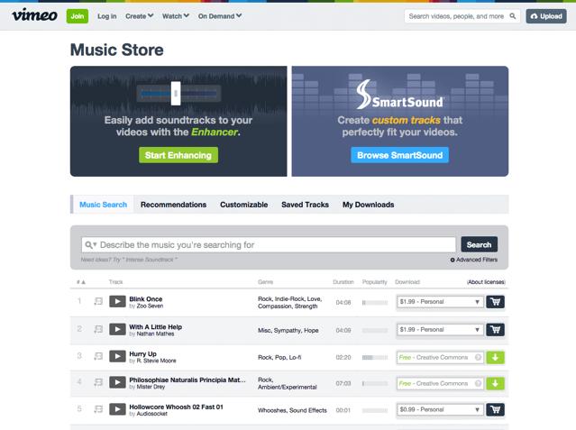 Vimeo Music Store 免費音樂、配樂及音效庫資源,超過四萬個音效素材免費下載