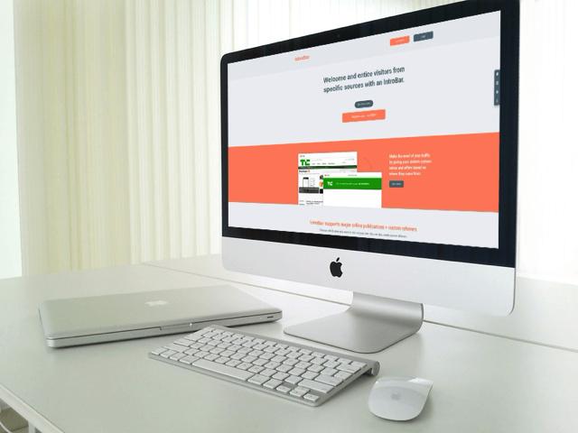 IntroBar 為特定來源訪客顯示歡迎訊息,方便網站發佈通知增加曝光效果
