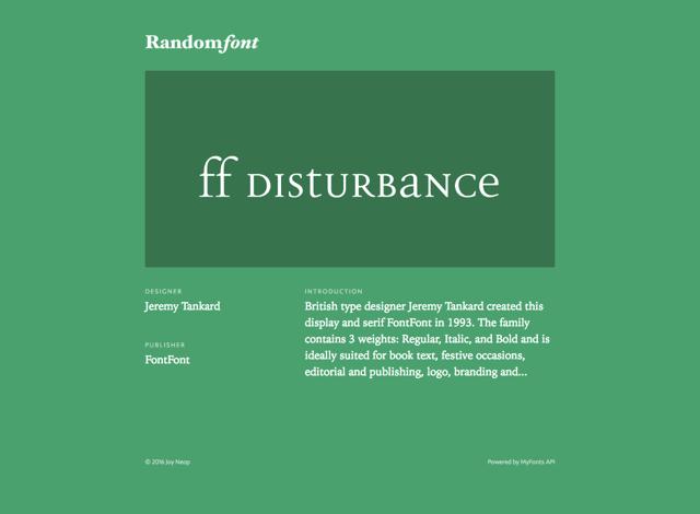 RandomFont 字型控必備!開啟網頁隨機展示一款英文字型背景故事
