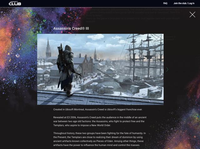 Ubisoft 三十週年活動最終預告!《刺客教條3》PC 版免費下載