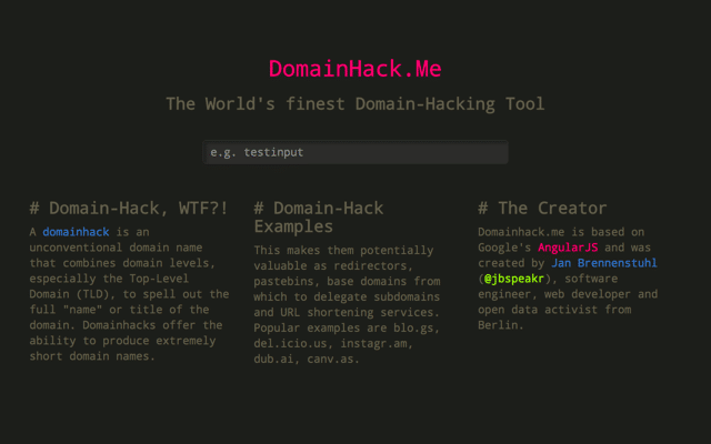 DomainHack.Me