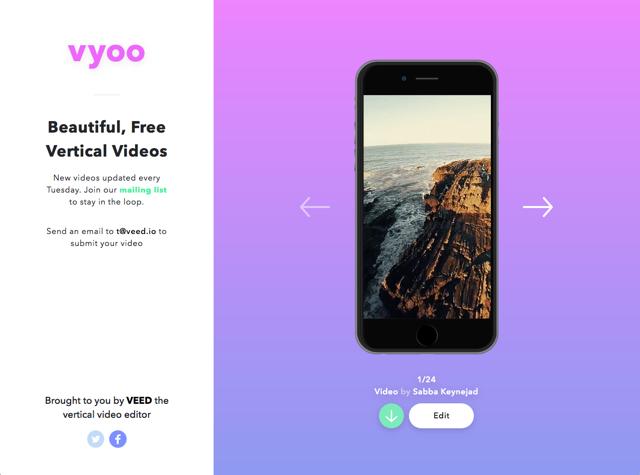 Vyoo 漂亮直式影片免費下載,線上編輯後匯出為 Mp4 格式