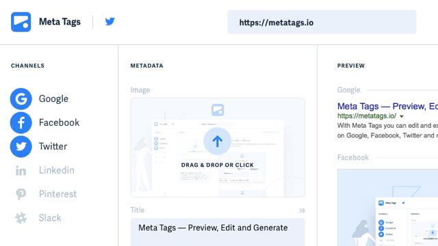 Metatags.io 線上預覽、編輯並產生對應的 Meta 標籤
