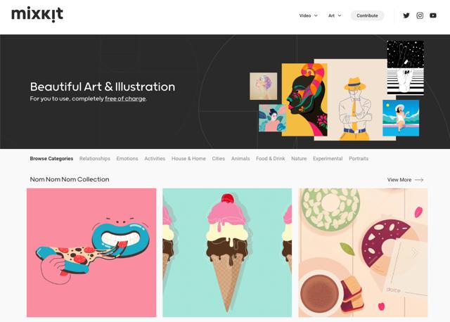 Mixkit Art 免費藝術圖案和插畫下載,可自由使用於商業用途