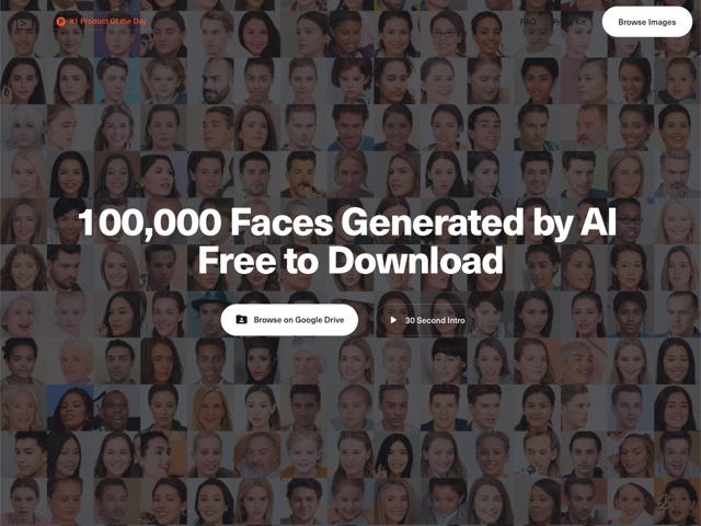 100,000 Faces 由人工智慧產生「不存在的臉孔」圖庫,適用於商業用途