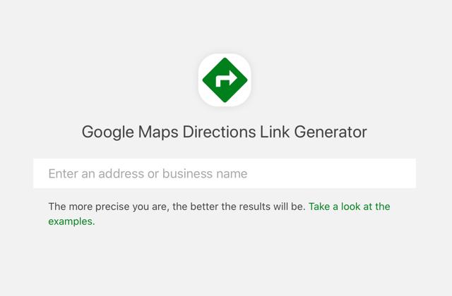 Google Maps Directions Link Generator 為商店建立導航及路線規劃連結