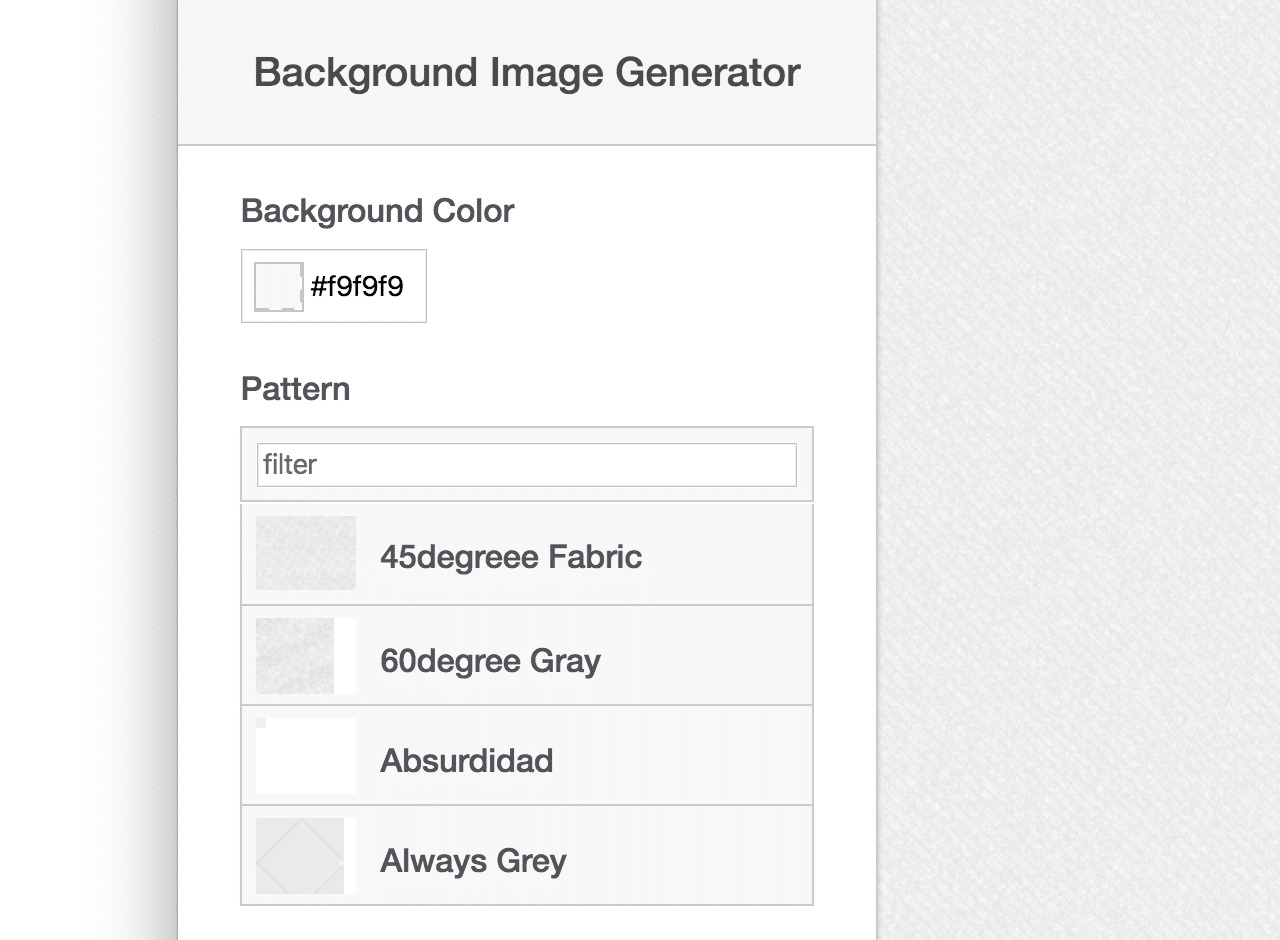 Background Image Generator 免費網頁背景產生器,可製作各種材質圖片